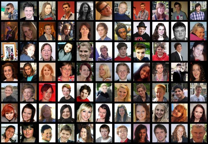 Victims of the Oslo terror